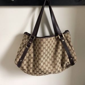 Gucci Abbey Hobo Monogram Bag